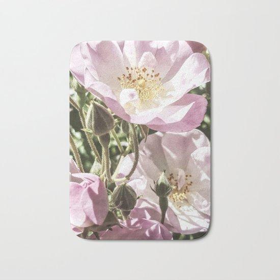 Cool And Luminous Summer Roses Bath Mat