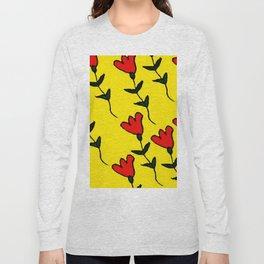 Repetitive Flower Long Sleeve T-shirt