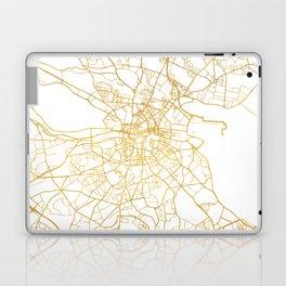 DUBLIN IRELAND CITY STREET MAP ART Laptop & iPad Skin
