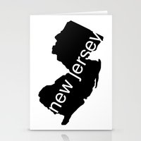 new jersey Stationery Cards featuring New Jersey by Isabel Moreno-Garcia