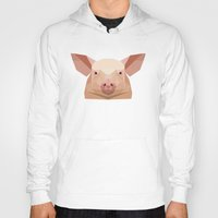 pig Hoodies featuring Pig by Alysha Dawn