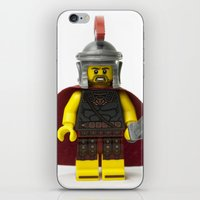 gladiator iPhone & iPod Skins featuring Roman gladiator Minifig by Jarod Pulo