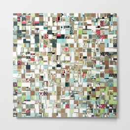 Geometric Textured Jumble Metal Print