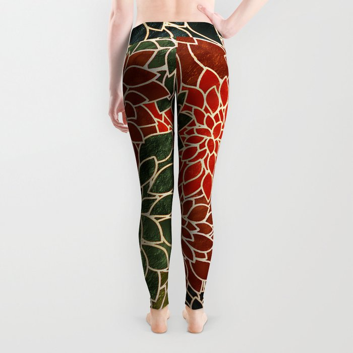 Floral Abstract 7 Leggings