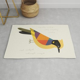 Helmeted Honeyeater Rug