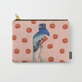 Brazilian Birds & Fruits - Blue-crowned trogon + brazilian cherries Carry-All Pouch