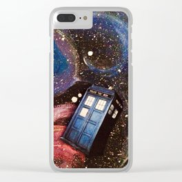 TARDIS in space Clear iPhone Case