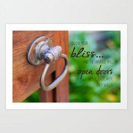 Bliss... Open Door Art Print
