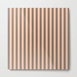 Apricot Pink Stripes Pattern Metal Print