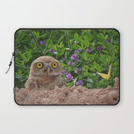 Owl and Butterfly Laptop Sleeve