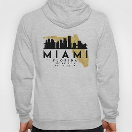 MIAMI FLORIDA SILHOUETTE SKYLINE MAP ART Hoody