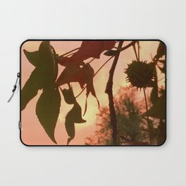 Autumn Amber Leaves Laptop Sleeve