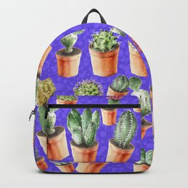 Cactus pattern watercolor Backpack