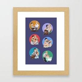 Kinky Old Men Framed Art Print