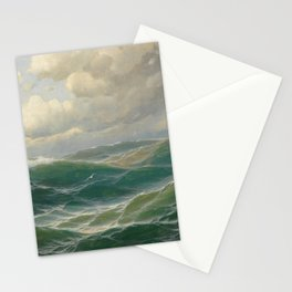 Vintage Ocean Oil Painting by Max Jensen Stationery Cards