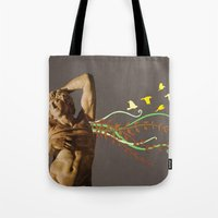 spawn Tote Bags featuring Persephides by Canson City