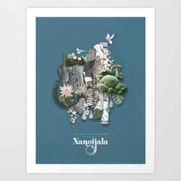Nangijala –Blue Art Print