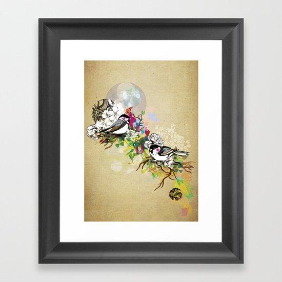 Two Birds Framed Art Print