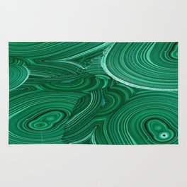 Green Malachite Nature Pattern Design Abstract Rug