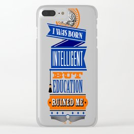 Education Clear iPhone Case