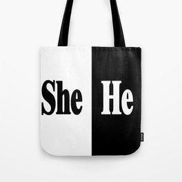 She vs He Tote Bag