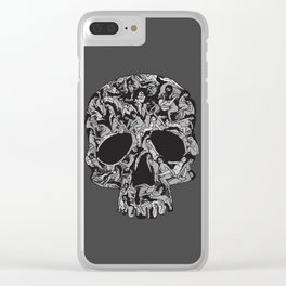 Sex kill you everyday (SKULL) Clear iPhone Case