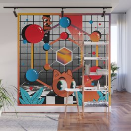 Abstract kittens Wall Mural