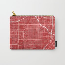 Santa Ana Map, USA - Red Carry-All Pouch