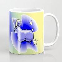 astrology Mugs featuring Astrology, Capricorn by Karl-Heinz Lüpke