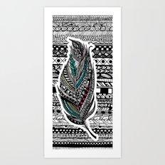 Aztec Feather. Art Print