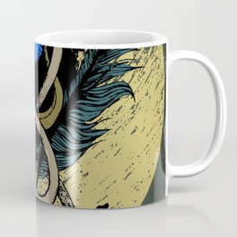 Blue flower with dragon Coffee Mug
