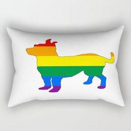 Rainbow Chihuahua Rectangular Pillow