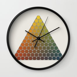 Lichtenberg-Mayer Colour Triangle vintage remake, based on Mayers' original idea and illustration Wall Clock