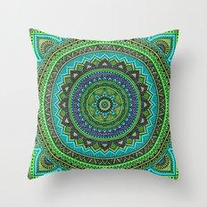 Hippie mandala 44 Throw Pillow