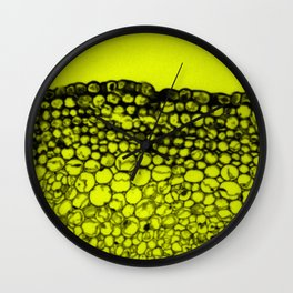 Crowded - Abstract In Black And Yellow Wall Clock
