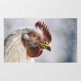 The white rooster Rug