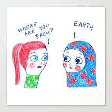 Where are you from? Canvas Print