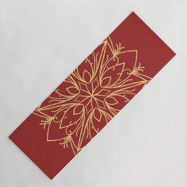 Golden Snowflake Yoga Mat