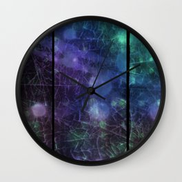 Purple,  Green and Blue Wall Clock
