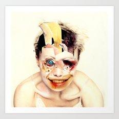 The Butcher  By Zabu Stewart Art Print