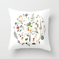cycle Throw Pillows featuring Cycle by Lindgren & Ekberg
