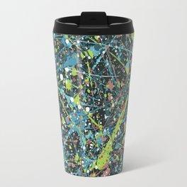 Galaxy Splatter Paint Art Travel Mug