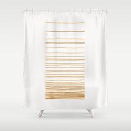 Linear Gradation - Caramel Shower Curtain