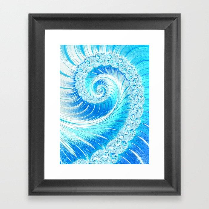 Frozen Vortex Gerahmter Kunstdruck