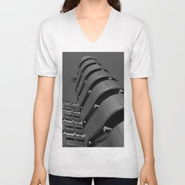 London building abstract art Unisex V-Neck