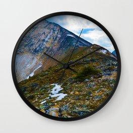 Pyramid Mountain Summit Hike in Jasper National Park, Canada Wall Clock