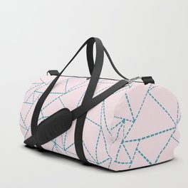 Ab Dotted Lines Blue on Pink Duffle Bag