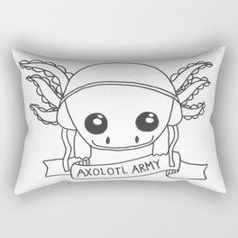 Axolotl Army Line Work Rectangular Pillow