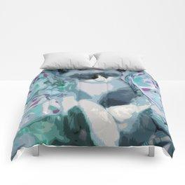 Nestled Kitten in Comforter Cloud Comforters