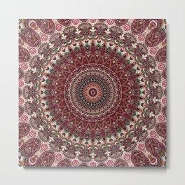 Mediterranean Boho Kaleidoscope Metal Print